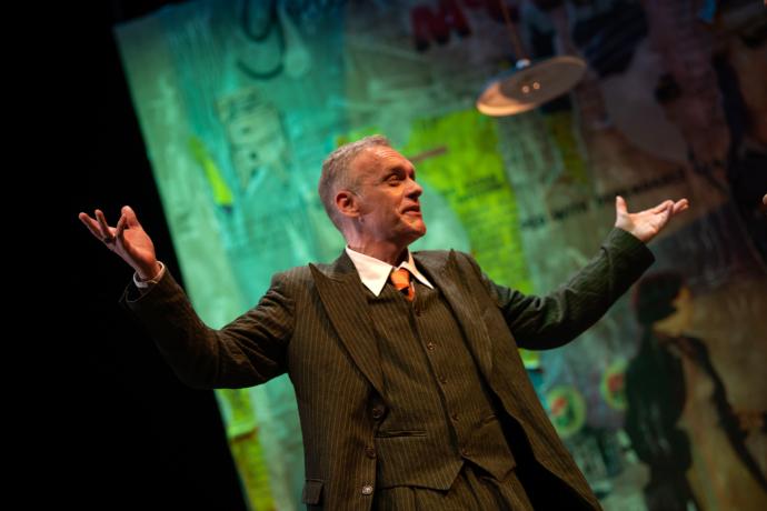 Jurij Ferrini in scena (photo: Andrea Macchia)