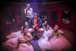 I protagonisti del peep show del Teatro La Ribalta
