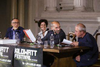 Scimone e Sframeli con i direttori artistici di Kilowatt (photo: E. Nocentini / L. Del Pia)